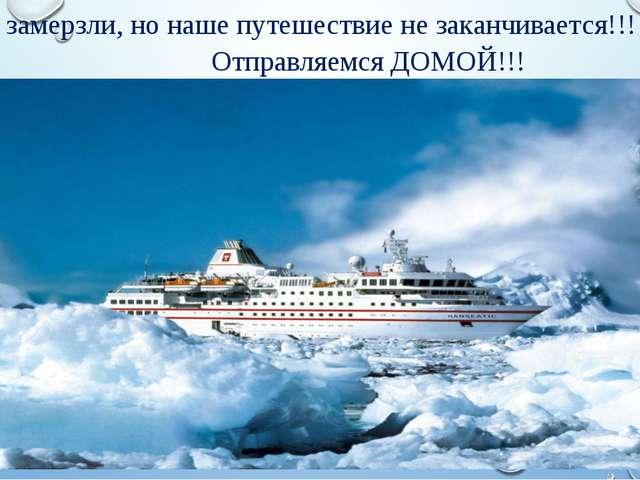 Мы замерзли, но наше путешествие не заканчивается!!! Отправляемся ДОМОЙ!!!
