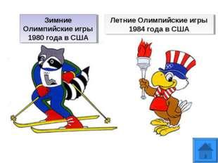 Зимние Олимпийские игры 1980 годав США Летние Олимпийские игры 1984 года в США