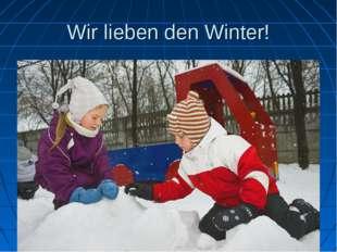 Wir lieben den Winter!