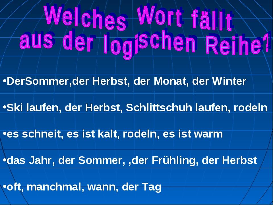 DerSommer,der Herbst, der Monat, der Winter Ski laufen, der Herbst, Schlittsc...