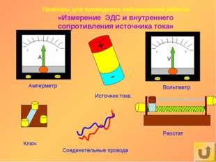 Амперметр Вольтметр Соединительные провода Приборы для проведения лабораторно