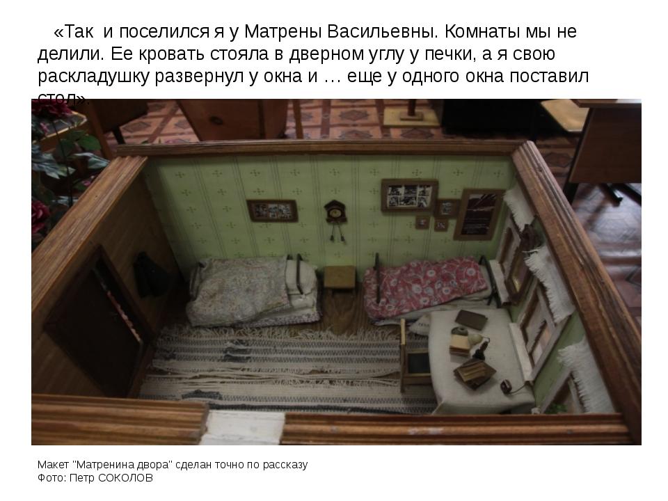 """Макет """"Матренина двора"""" сделан точно по рассказу Фото: Петр СОКОЛОВ «Так и по..."""