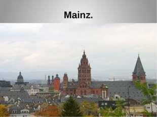 Mainz.