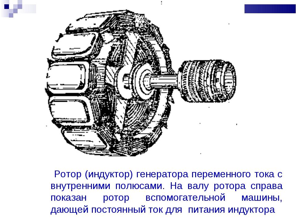 Ротор (индуктор) генератора переменного тока с внутренними полюсами. На валу...