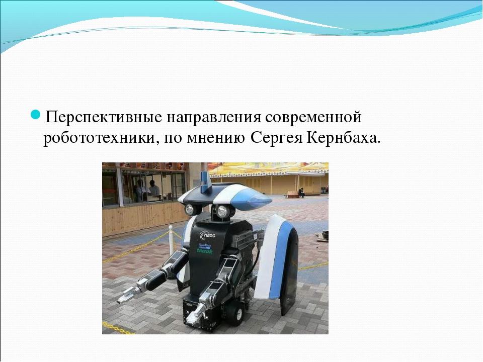 Перспективные направления современной робототехники, по мнению Сергея Кернбаха.
