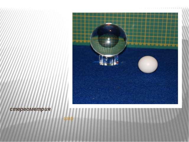 стереометрия шар