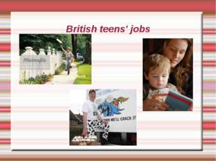 British teens' jobs