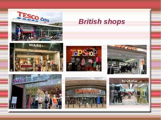 British shops