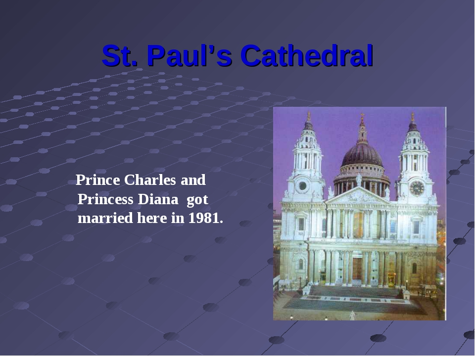 St. Paul's Cathedral Prince Charles and Princess Diana got married here in 19...