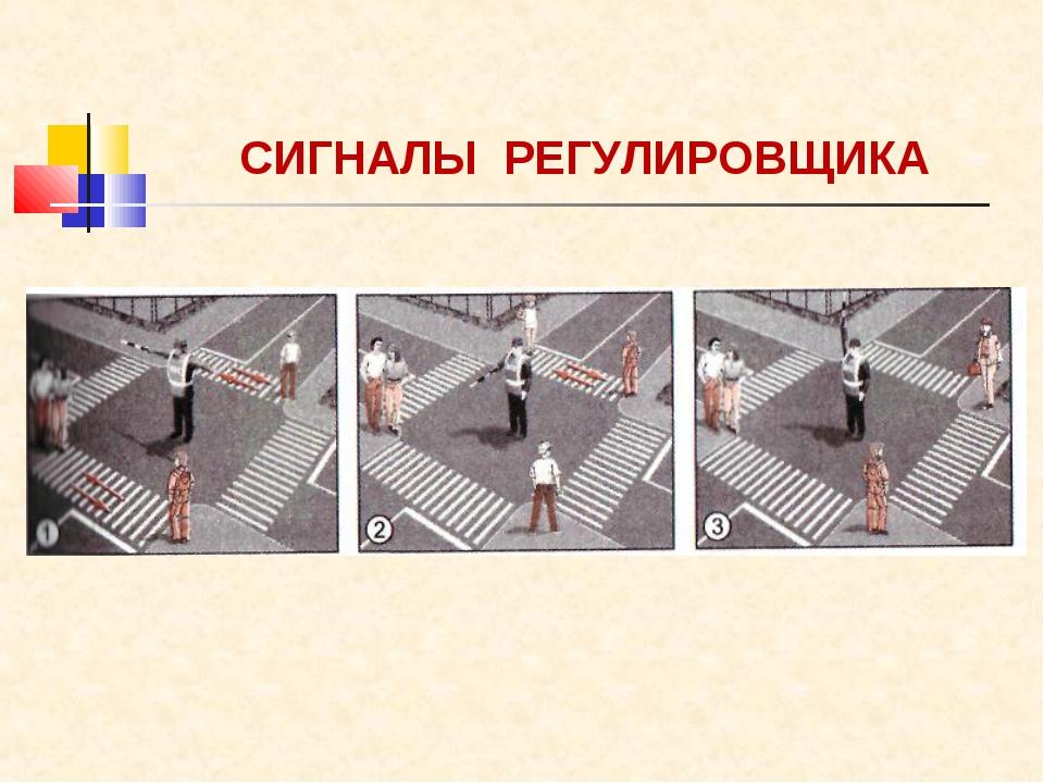 СИГНАЛЫ РЕГУЛИРОВЩИКА