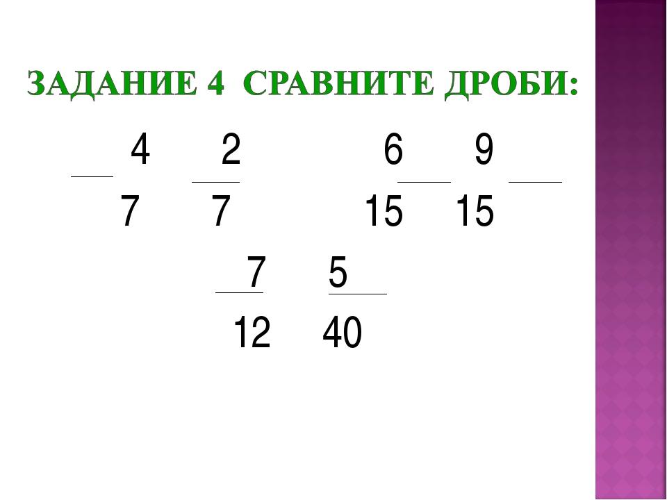 4 2 6 9 7 7 15 15 7 5 12 40
