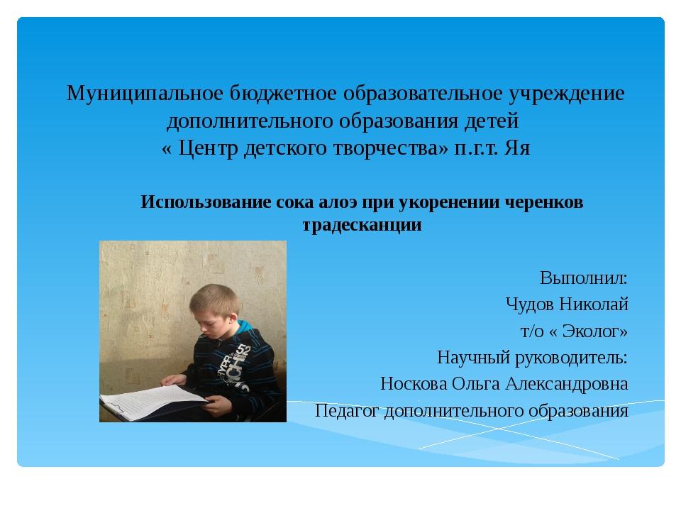 Муниципальное бюджетное образовательное учреждение дополнительного образовани...