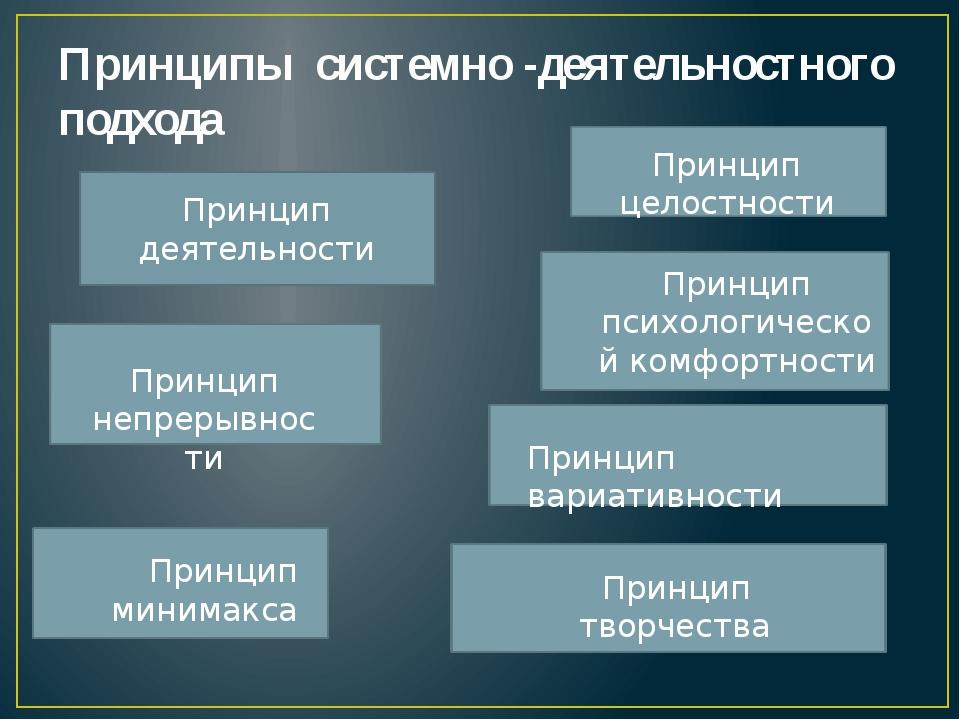 Принципы системно -деятельностного подхода  Принцип деятельности Принцип неп...