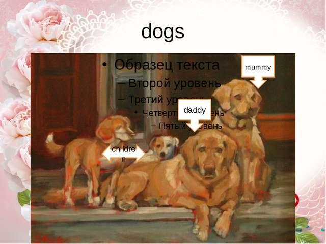 dogs daddy mummy children