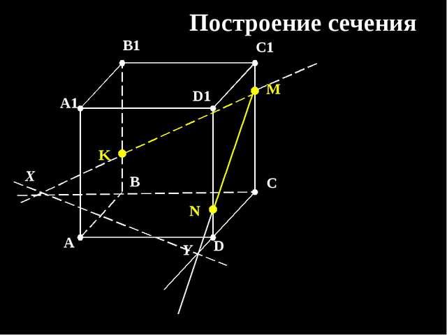 K M N X Y Построение сечения