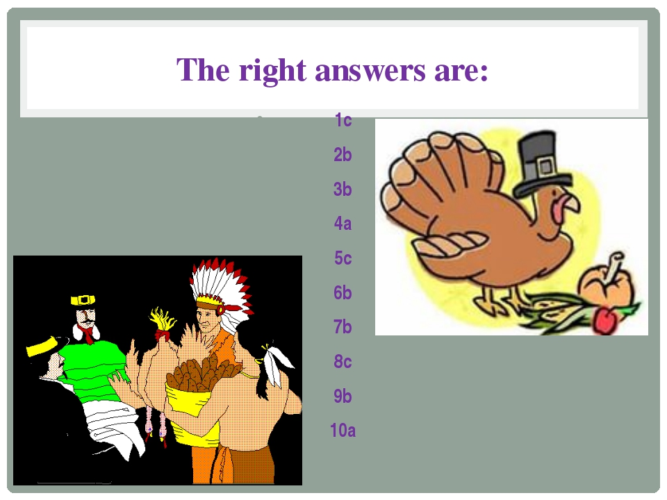 The right answers are: 1c 2b 3b 4a 5c 6b 7b 8c 9b 10a