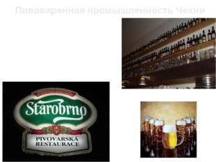 Пивоваренная промышленность Чехии В последнее время из всех отраслей пищевой