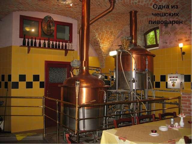 Одна из чешских пивоварен