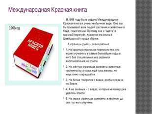 Международная Красная книга В 1966 году была издана Международная Красная кни