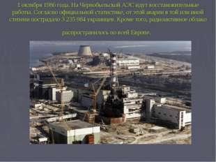 1 октября 1986 года. На Чернобыльской АЭС идут восстановительные работы. Согл