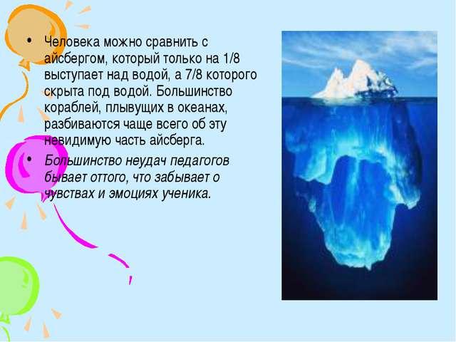 Человека можно сравнить с айсбергом, который только на 1/8 выступает над водо...