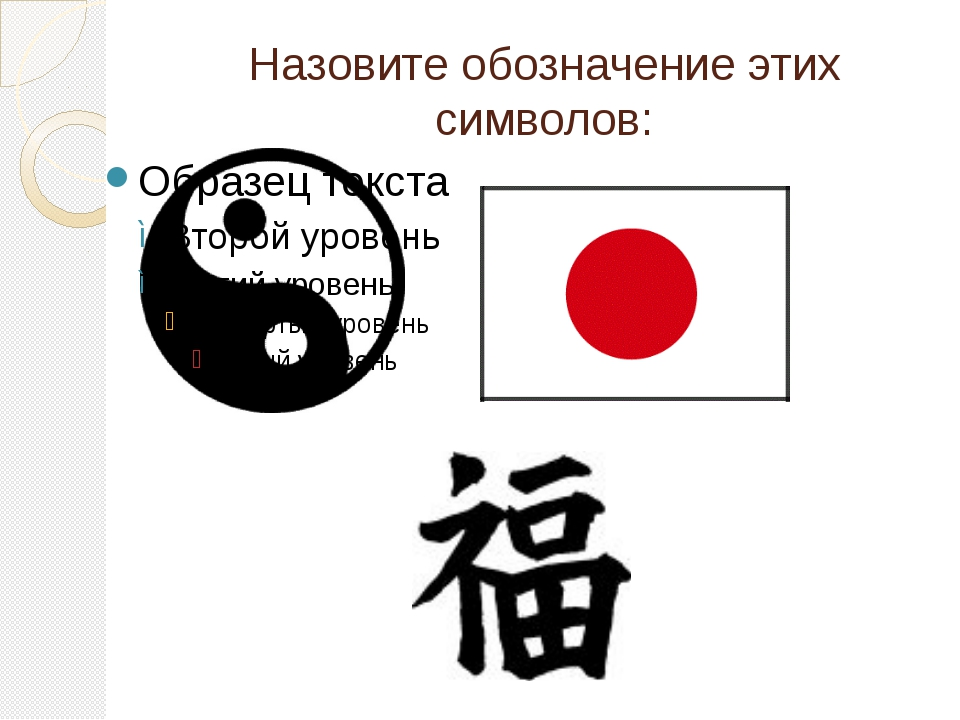 Назовите обозначение этих символов: