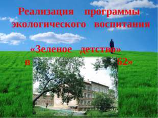 Реализация программы экологического воспитания «Зеленое детство» в МБОУ «СОШ