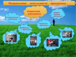 Направления деятельности Исследовательская деятельность Творческая деятельно