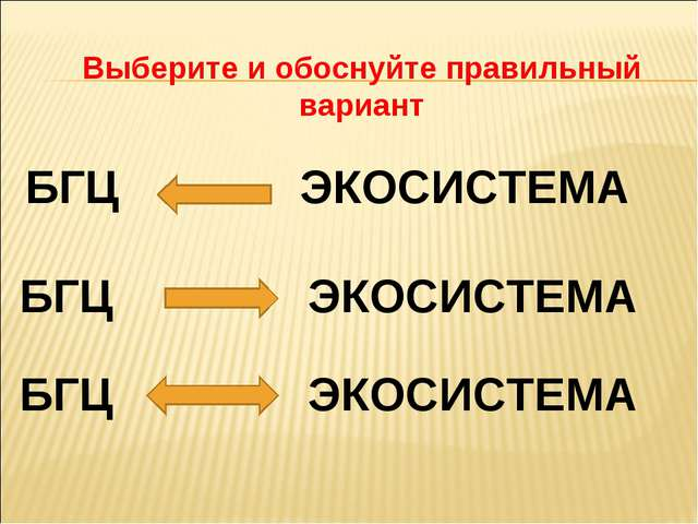 Выберите и обоснуйте правильный вариант БГЦ ЭКОСИСТЕМА БГЦ ЭКОСИСТЕМА БГЦ ЭКО...