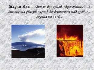 Мауна-Лоа – один из вулканов, образованный на дне океана (Тихий океан), возвы