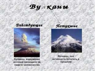 Вулканы, извержение которых проходило на памяти человечества Вулканы, чья акт