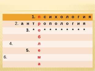 1.психология 2.антропология 3.*о****