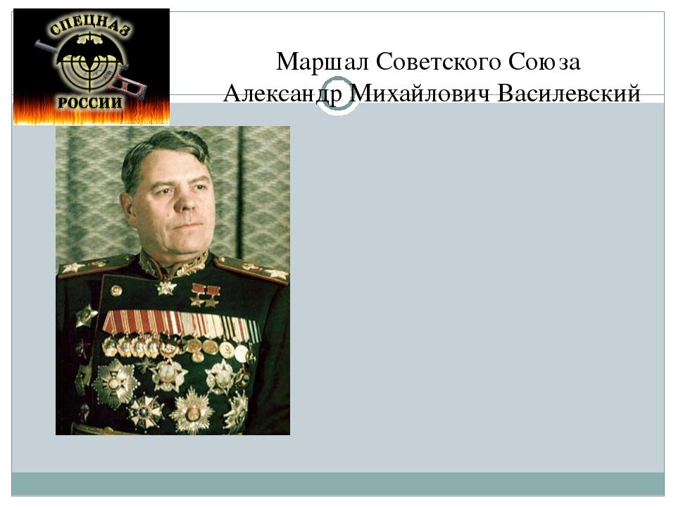 Маршал Советского Союза Александр Михайлович Василевский