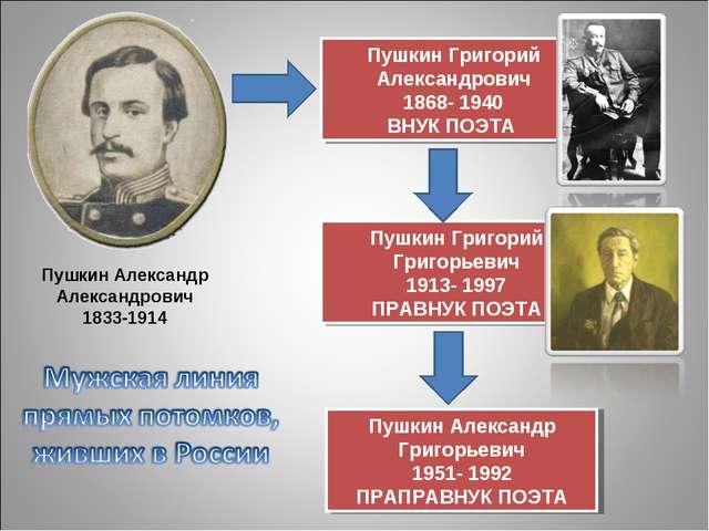 Пушкин Александр Александрович 1833-1914 Пушкин Григорий Александрович 1868-...