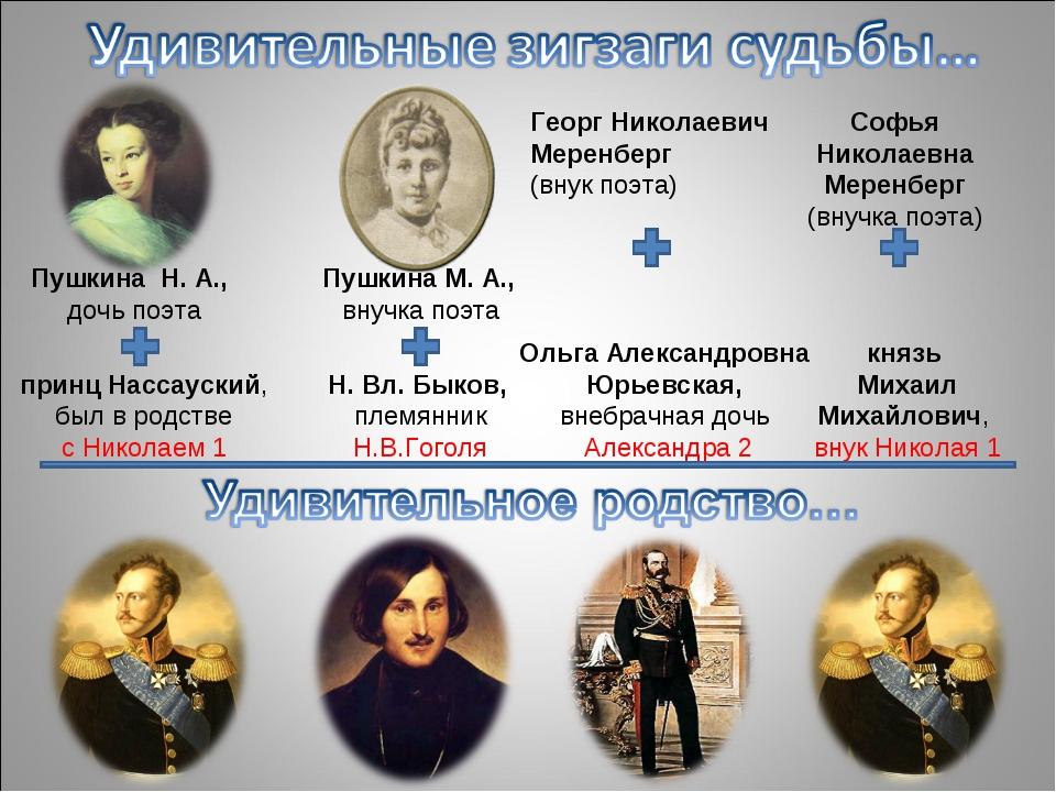 принц Нассауский, был в родстве с Николаем 1 Н. Вл. Быков, племянник Н.В.Гог...