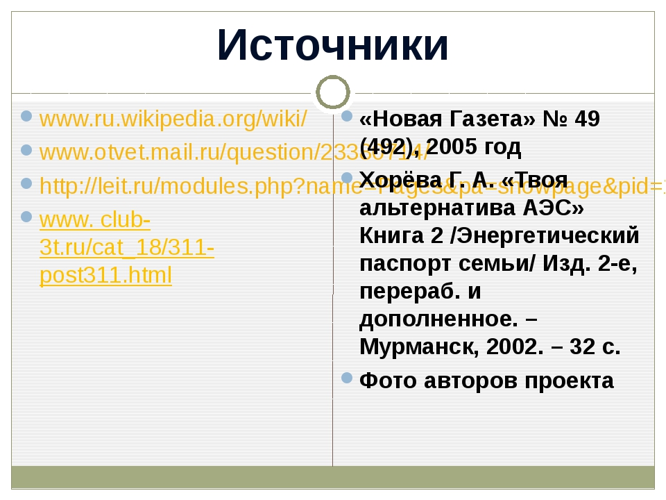 Источники www.ru.wikipedia.org/wiki/ www.otvet.mail.ru/question/23380714/ htt...