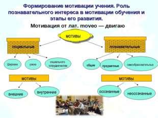 Формирование мотивации учения. Роль познавательного интереса в мотивации обуч