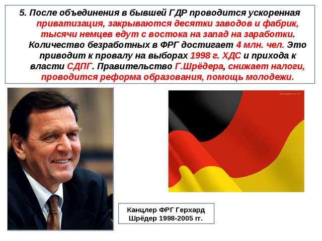 5. После объединения в бывшей ГДР проводится ускоренная приватизация, закрыва...