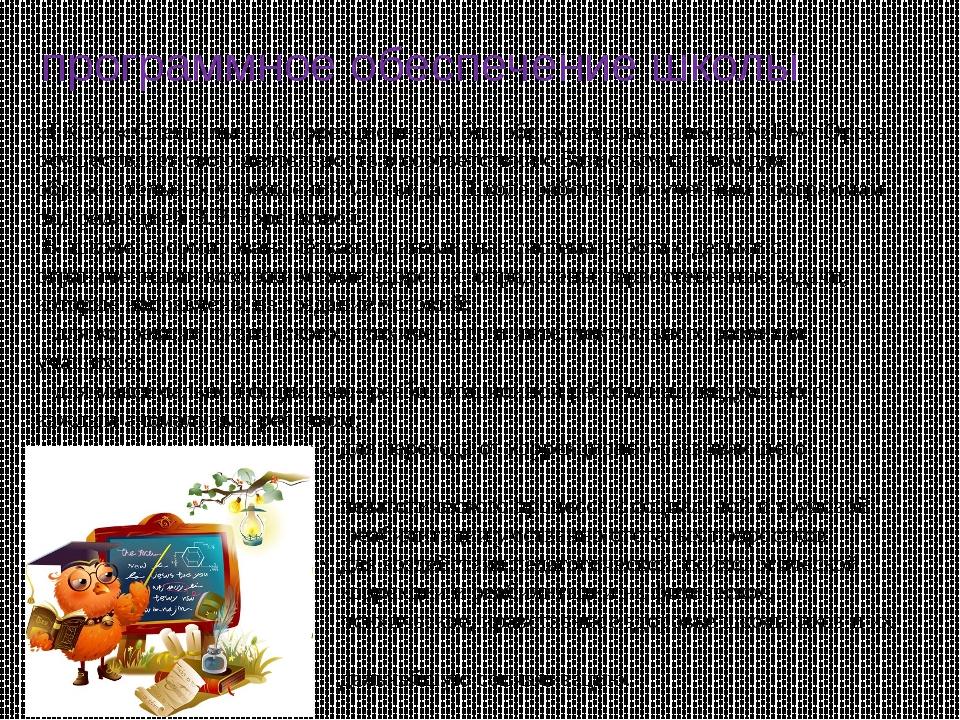 программное обеспечение школы «ГКОУ « Специальная (коррекционная) общеобразов...