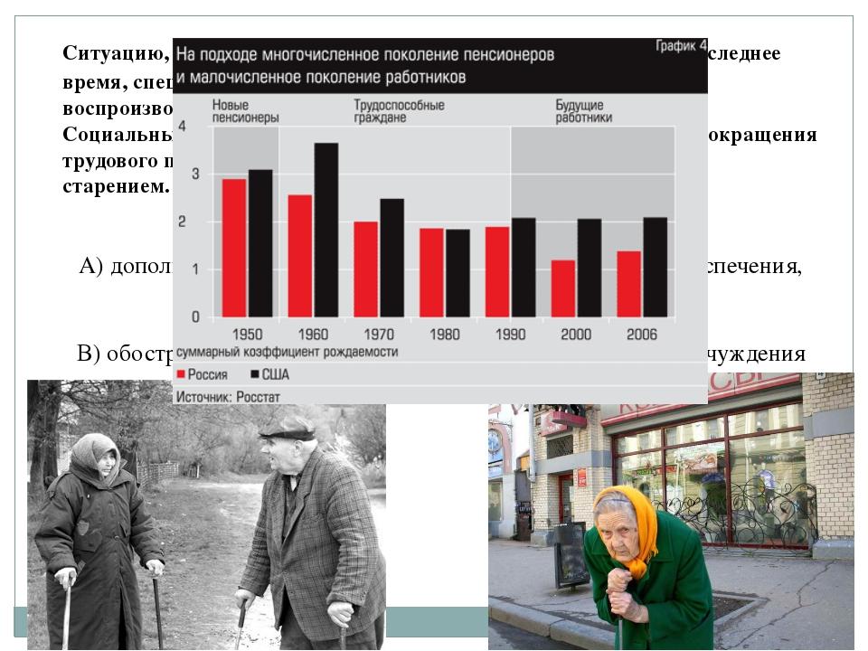 Ситуацию, которая сложилась с народонаселением в России в последнее время, сп...
