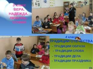 4 класс ТРАДИЦИИ ОТЕЧЕСТВА - ТРАДИЦИИ ОБРАЗА - ТРАДИЦИИ СЛОВА - ТРАДИЦИИ ДЕЛА