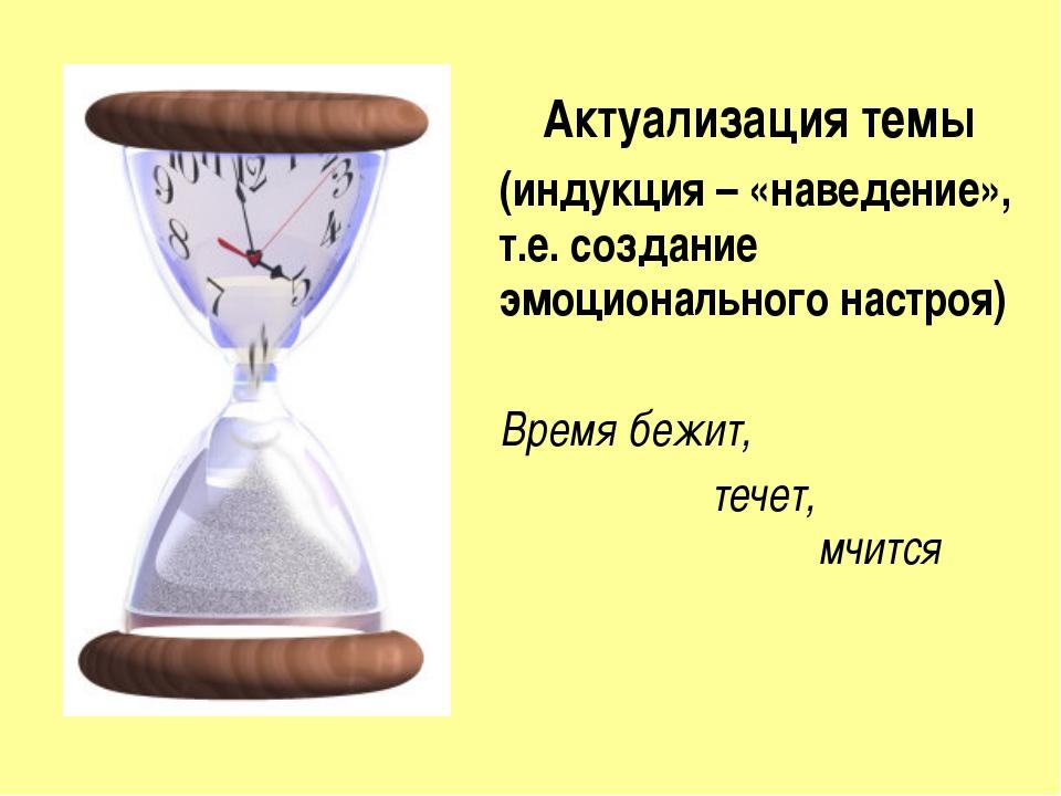 Актуализация темы (индукция – «наведение», т.е. создание эмоционального настр...