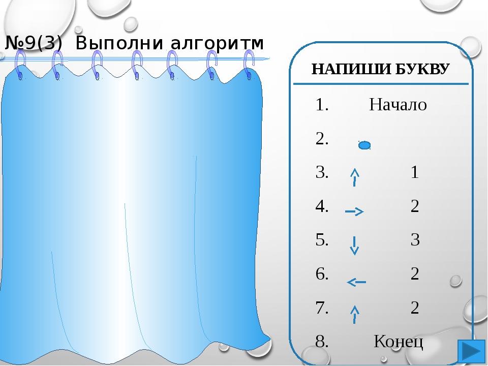 №10(2) Напиши алгоритм для рисунка ` 1. Начало 2. 3. 2 4. 2 5. 2 6. 2 7. 2 8....