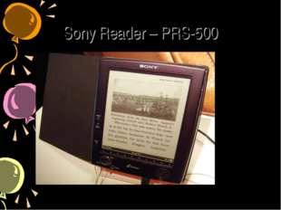 Sony Reader – PRS-500