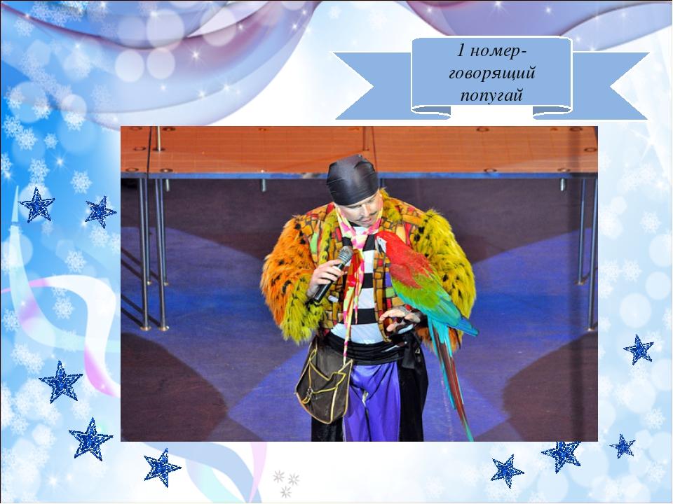 1 номер-говорящий попугай