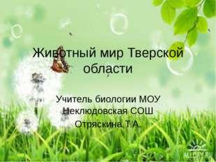 Животный мир Тверской области Учитель биологии МОУ Неклюдовская СОШ Отряскина