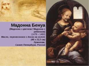 Мадонна Бенуа (Мадонна с цветком / Мадонна с ребенком) (1478 – 1480) Масло, п