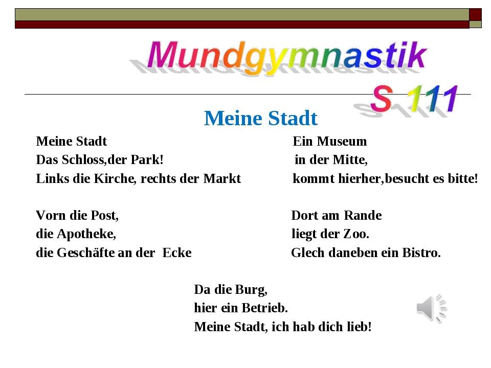 Meine Stadt Meine Stadt Ein Museum Das Schloss,der Park! in der Mitte, Links...