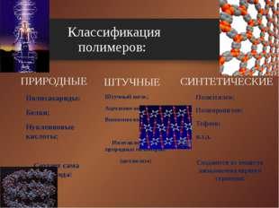 ПРИРОДНЫЕ Полисахариды; Белки; Нуклеиновые кислоты; Создает сама природа! ШТУ