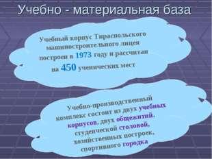 Учебно - материальная база Учебный корпус Тираспольского машиностроительного
